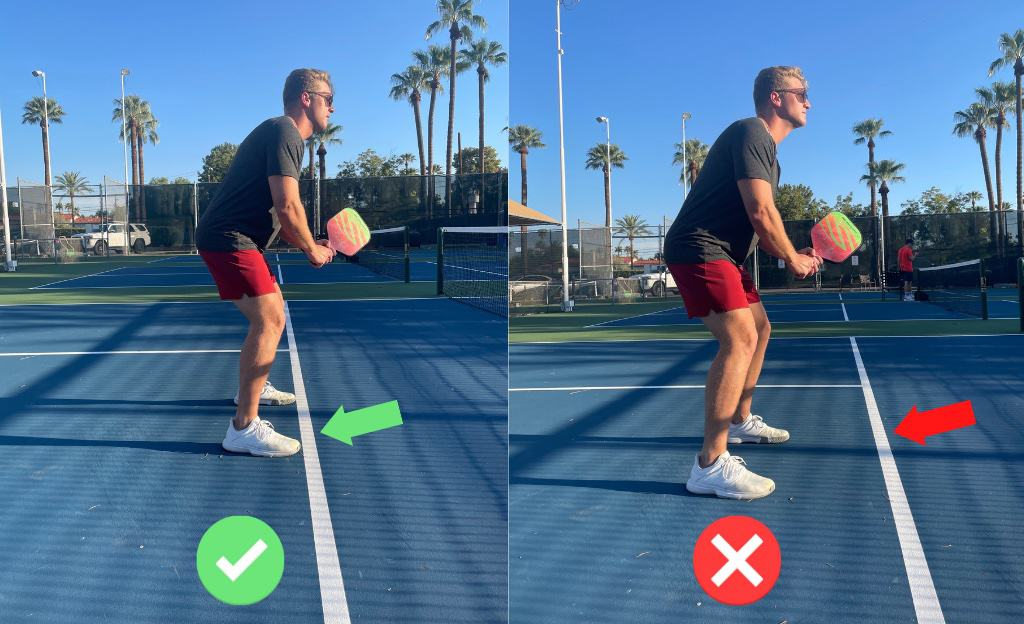Proper position to stand for pickleball