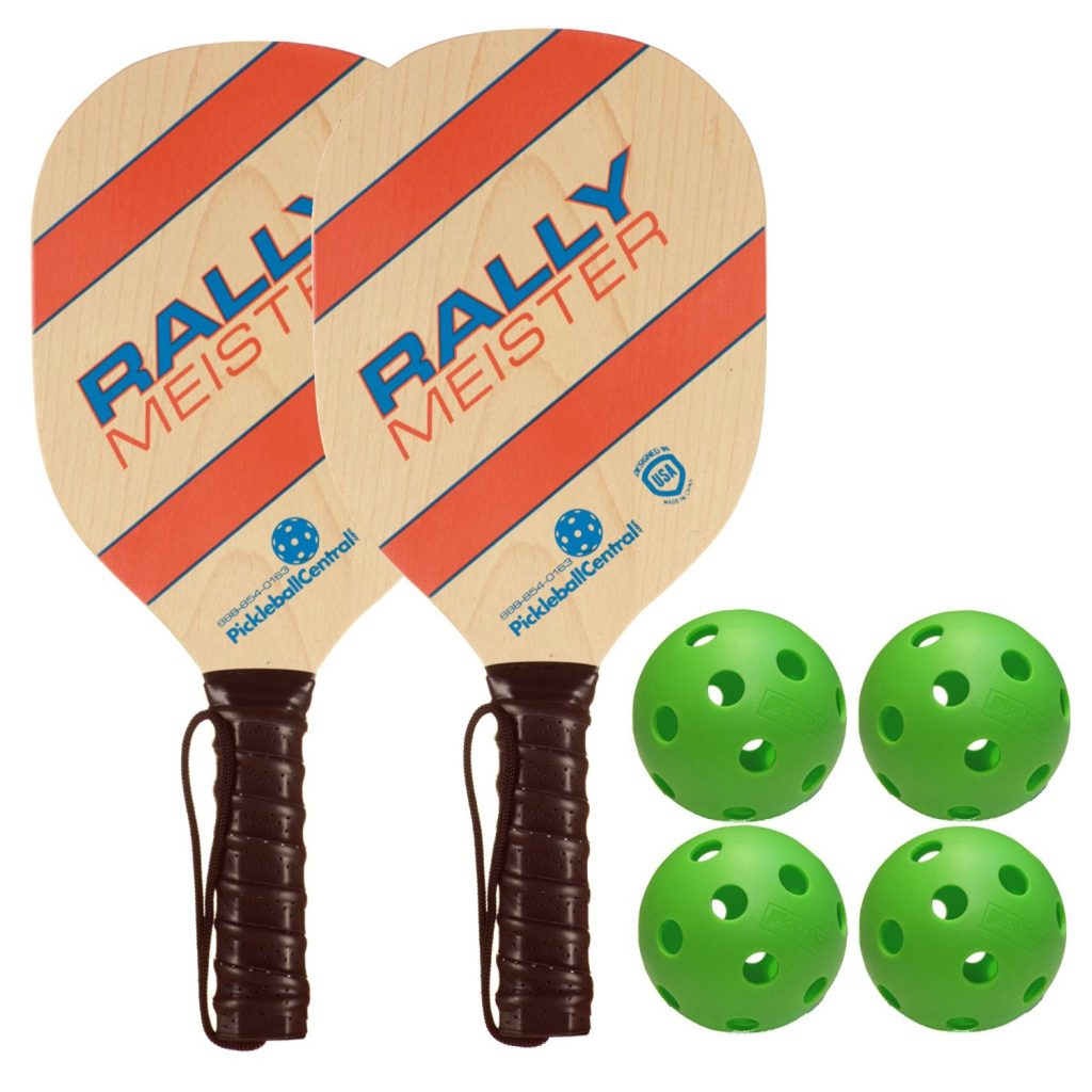 Rally Meister Wood Pickleball Paddle Bundle