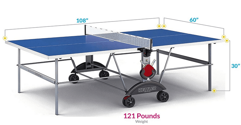 Kettler Top Star XL Weatherproof Table Tennis Table